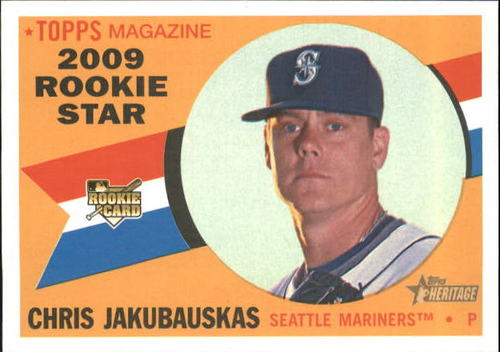 Photo of 2009 Topps Heritage #538 Chris Jakubauskas RC