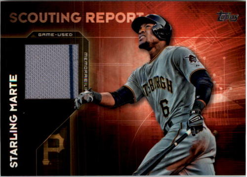 Photo of 2016 Topps Scouting Report Relics #SRRSMA Starling Marte