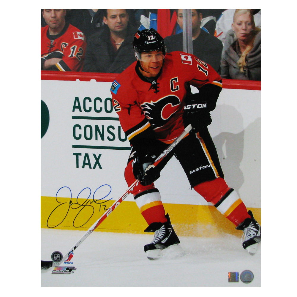 JAROME IGINLA Signed Calgary Flames 16 X 20 Photo - 79021