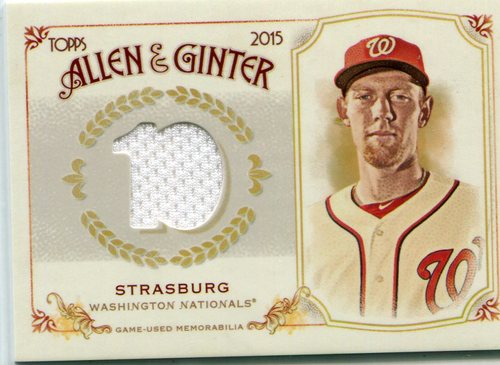 Photo of 2015 Topps Allen and Ginter Relics Stephen Strasburg -- Nationals post-season