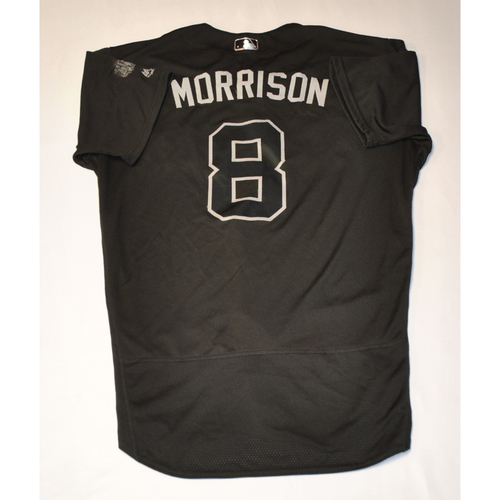 "Photo of Logan ""MORRISON"" Morrion Philadelphia Phillies Game-Used 2019 Players' Weekend Jersey"