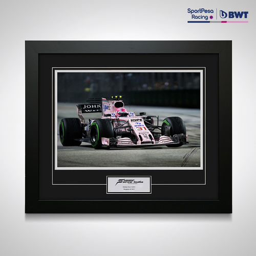 Photo of Esteban Ocon 2017 Signed Photo - SportPesa Racing Point F1 Team