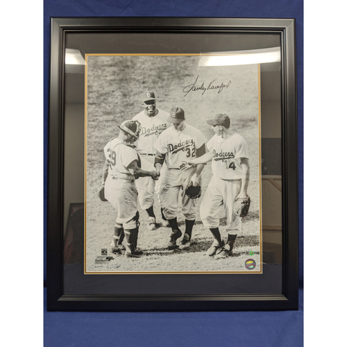 Photo of Sandy Koufax Autographed Photo from 1st Career Win
