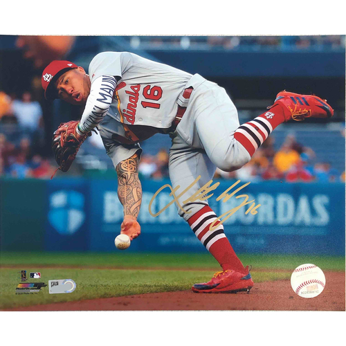 Photo of Cardinals Authentics: Kolten Wong Fielding Autographed Photo