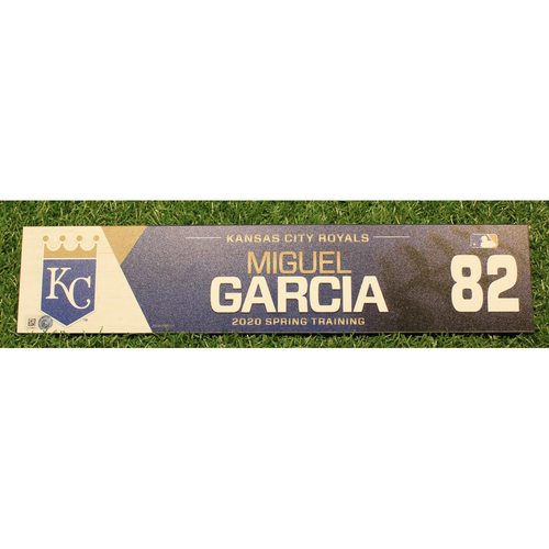 Photo of Game-Used 2020 Spring Training Locker Tag: Miguel Garcia #82