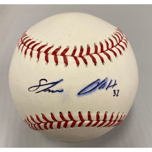 Photo of Giants Community Fund - Smudged Autographed Baseball signed by Steven Okert