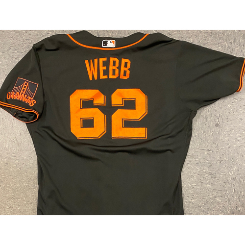 Photo of 2020 Team Issued Spring Training Black Alt Jersey - #62 Logan Webb - Size 48