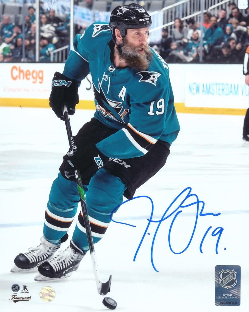 Joe Thornton Signed 8x10 Unframed Sharks Action