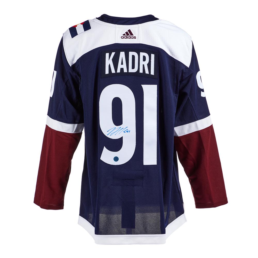 Nazem Kadri Colorado Avalanche Signed Alternate Adidas Jersey
