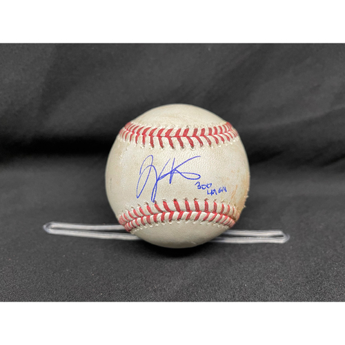 Photo of Joey Votto *Game-Used, Autographed & Inscribed* Baseball from 300th Career HR Game - Jake Arrieta to Wade Miley (Single); to Jesse Winker (Single) -- 04/30/2021 - CHC vs. CIN - Bot 3