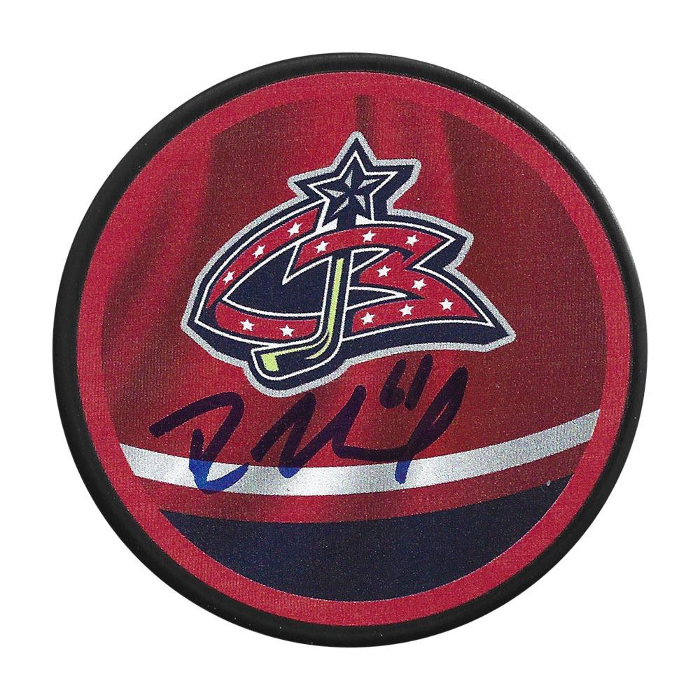 Rick Nash Autographed Columbus Blue Jackets Reverse Retro Puck