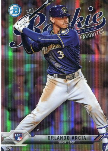 Photo of 2017 Bowman Chrome Rookie of the Year Favorites Refractors #ROYF10 Orlando Arcia