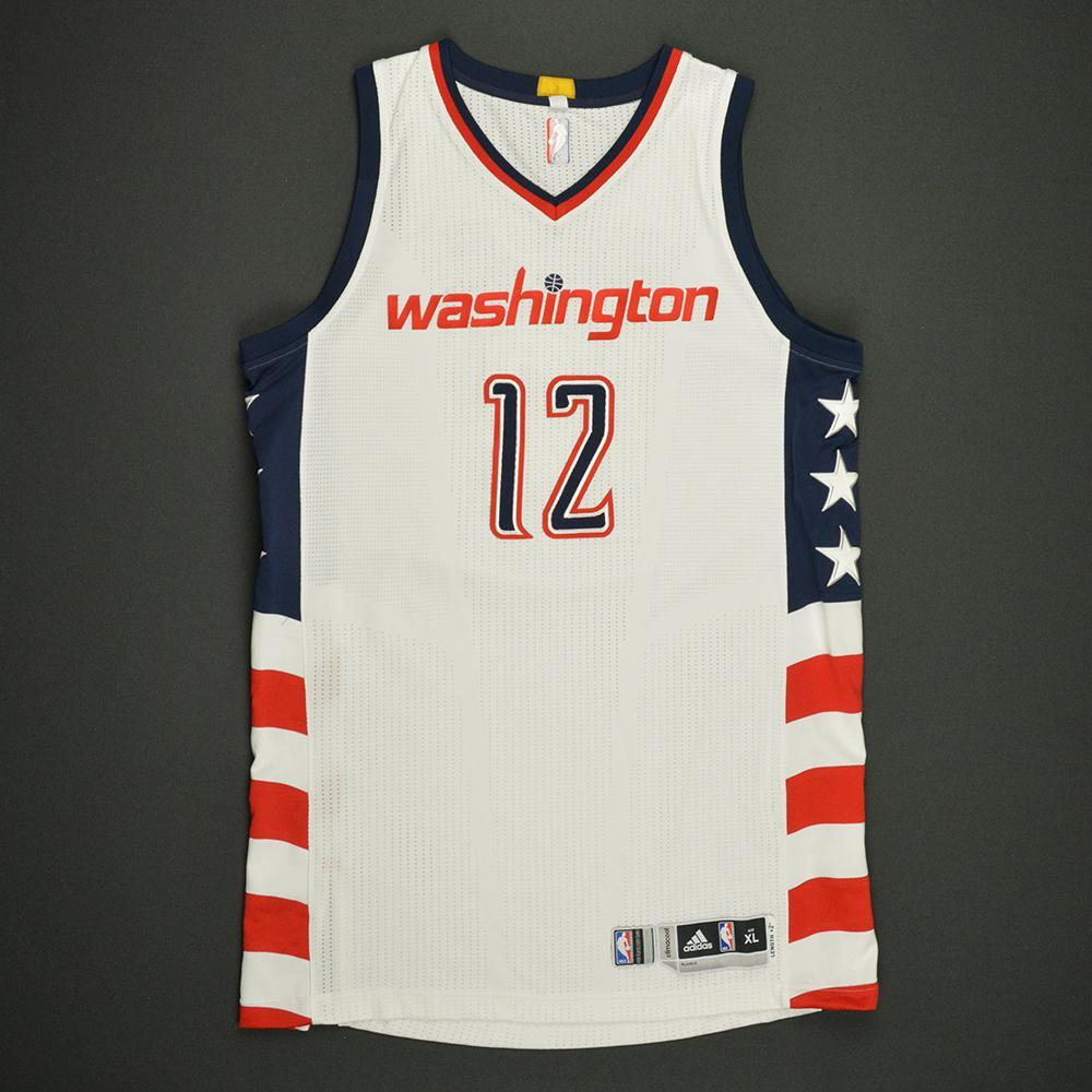 classic fit 4257f cebf1 Kelly Oubre Jr - Washington Wizards -White Playoffs Game ...