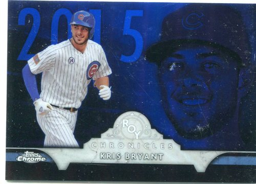 Photo of 2016 Topps Chrome ROY Chronicles #ROYKB Kris Bryant