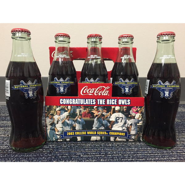 Photo of 2003 Rice Baseball National Champions Coca-Cola Bottles