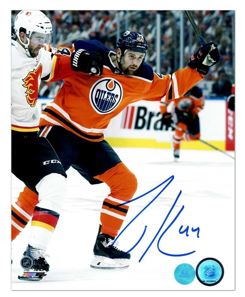 Zack Kassian Edmonton Oilers Autographed Battle Of Alberta 8x10 Photo
