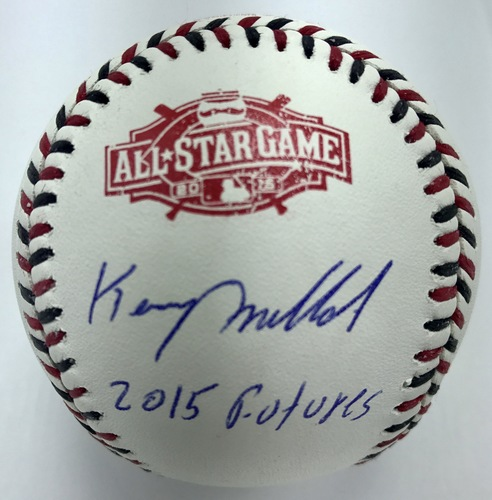 "Photo of Keury Mella ""2015 Futures"" Autographed 2015 All-Star Game Logo Baseball"