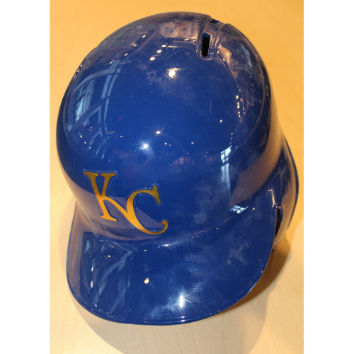 Game-Used Batting Helmet: Cheslor Cuthbert (CLE at KC - 9/30/16)