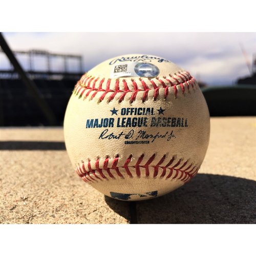 Photo of Colorado Rockies Dansby Swanson Game-Used Baseball - Double