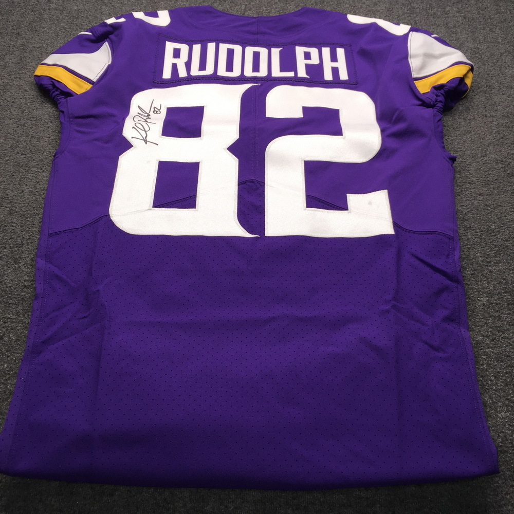 NFL Auction | STS - Vikings Kyle Rudolph Signed and Game Worn ...