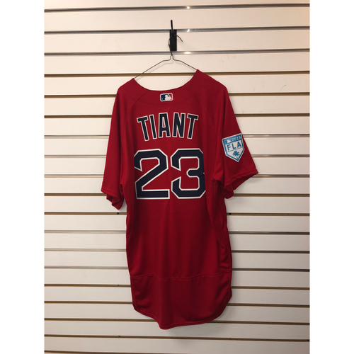 Photo of Luis Tiant Team-Issued 2019 Spring Training Jersey