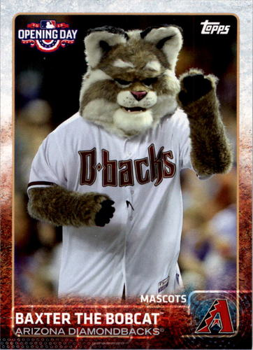 Photo of 2015 Topps Opening Day Mascots #M01 Baxter the Bobcat