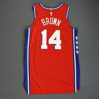 Anthony Brown - Philadelphia 76ers - 2018-19 Season - China Games - Game-Worn Red Statement Edition Jersey