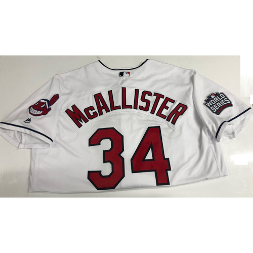Zach McAllister Team Issued 2016 World Series Home Jersey