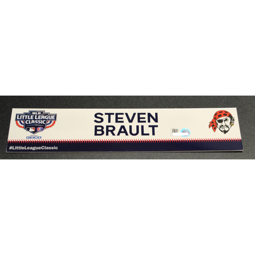 Photo of 2019 Little League Classic - Game Used Locker Tag - Steven Brault,  Chicago Cubs at Pittsburgh Pirates - 8/18/2019