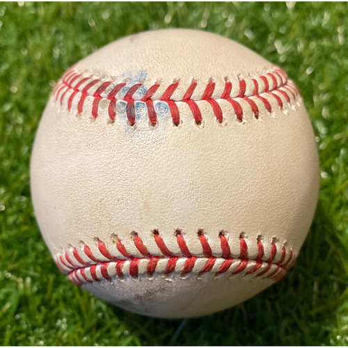 Photo of Game-Used Baseball: Chad Pinder 49th Career Double (8/29/19 - OAK @ KC)