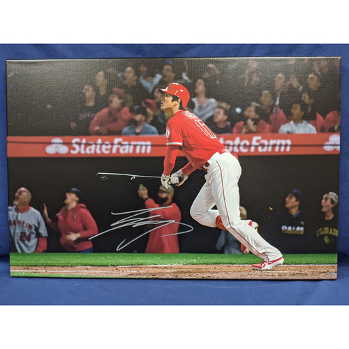 Photo of Shohei Ohtani 1st Homerun Autographed Photo Canvas