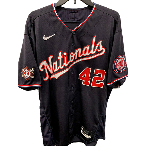 Photo of Tanner Rainey - Jackie Robinson Day Game Used Jersey