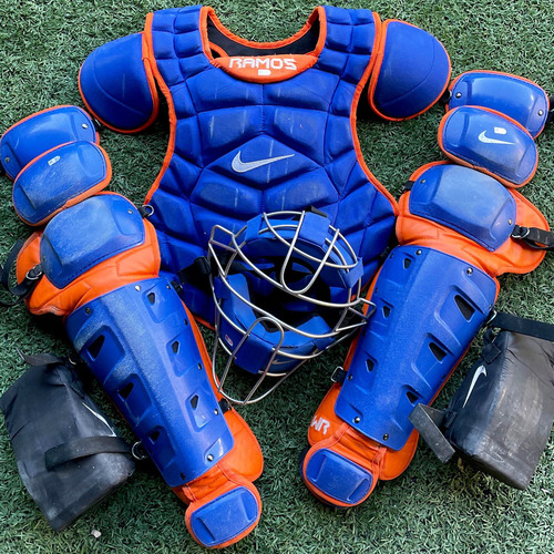 Photo of Wilson Ramos #40 - Team Issued Nike Catcher Gear Set - Includes Chest Protector, Shin Guards and Facemask - 2020 Season