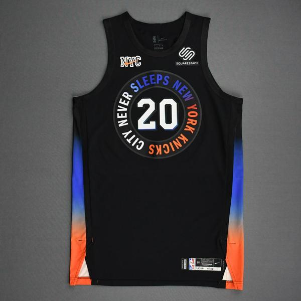 Image of Kevin Knox II - New York Knicks - Game-Worn City Edition Jersey - 2020-21 NBA Season