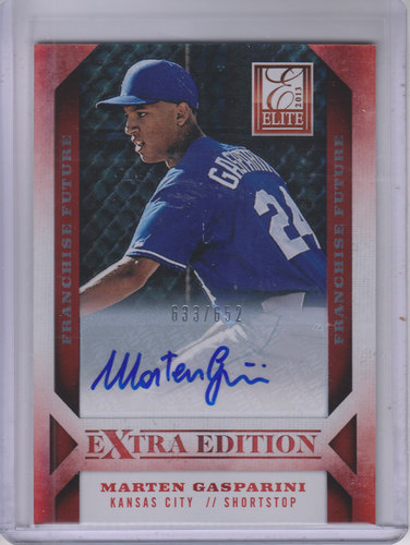 Photo of 2013 Elite Extra Edition Franchise Futures Signatures #22 Marten Gasparini/652