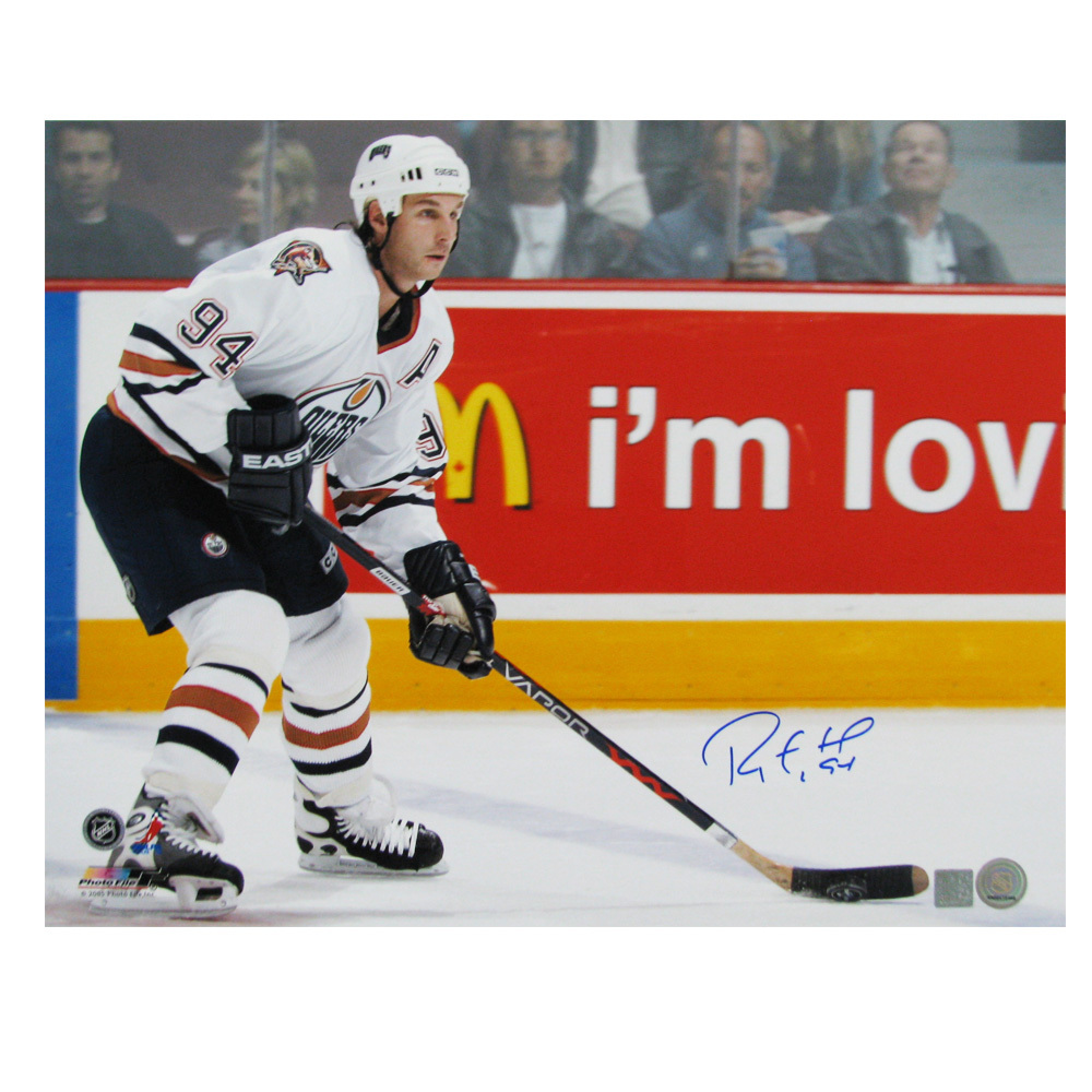 RYAN SMYTH Signed Edmonton Oilers 16 X 20 Photo - 79023