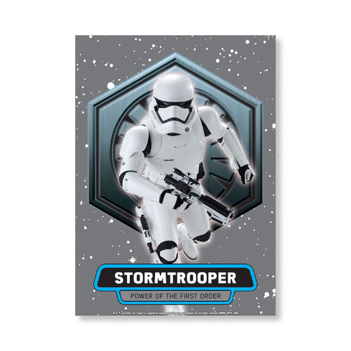 Stormtrooper 2016 Star Wars The Force Awakens Chrome Metal Poster - # to 99