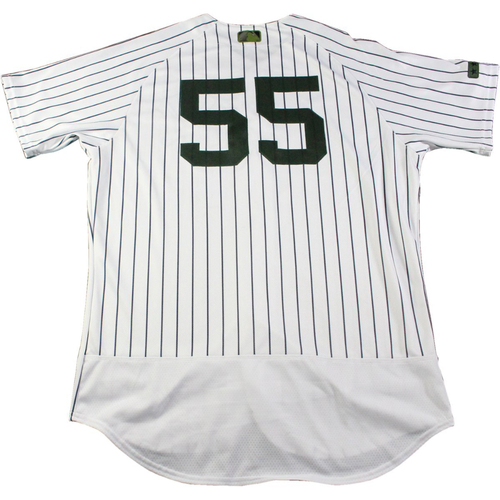 Photo of Bryan Mitchell New York Yankees Game-Used #55 Memorial Day Weekend Pinstripe Jersey (5/28/2017) (Size 46)