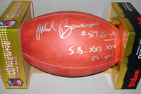 NFL - GIANTS MARK BAVARO SIGNED AUTHENTIC FOOTBALL