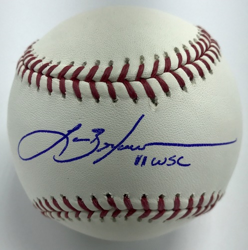 "Photo of Lance Berkman ""11 WSC"" Autographed Baseball"