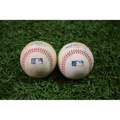 Photo of Game Used Baseball Package #1: September 15, 2017 - Christian Vazquez Single and Wilson Ramos Single
