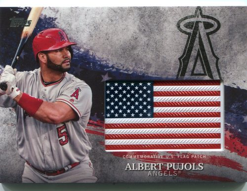 Photo of 2018 Topps Independence Day U.S. Flag Relics #IDMLAP Albert Pujols
