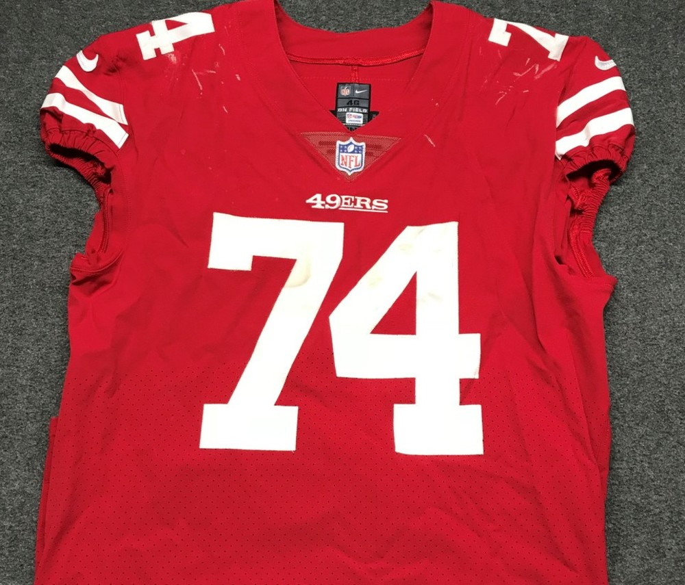 NFL Auction | STS - 49ers Joe Staley game worn 49ers jersey ...