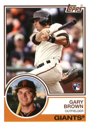Photo of 2015 Topps Archives #261 Gary Brown RC