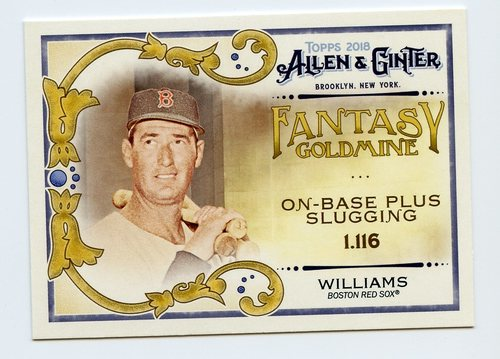 Photo of 2018 Topps Allen and Ginter Fantasy Goldmine #FG19 Ted Williams