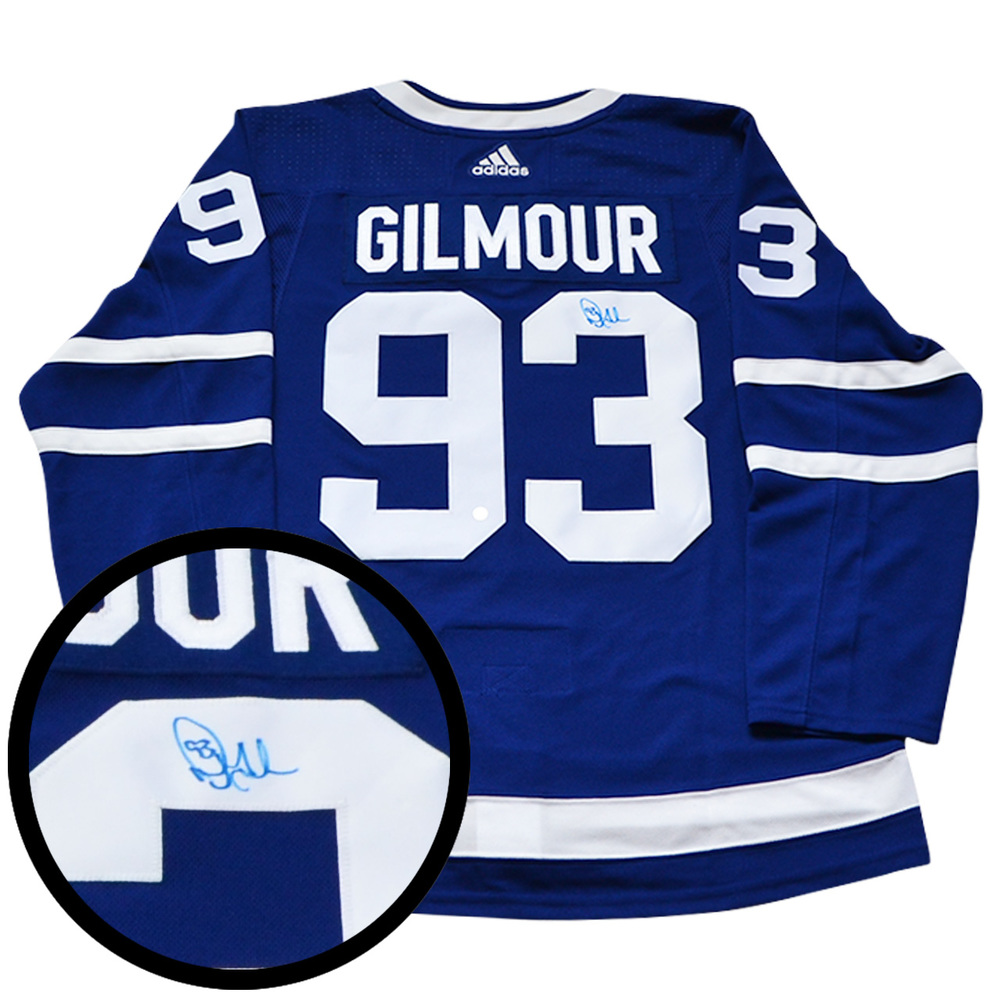 Doug Gilmour Signed Jersey Leafs Pro Blue 2017-2019 Adidas