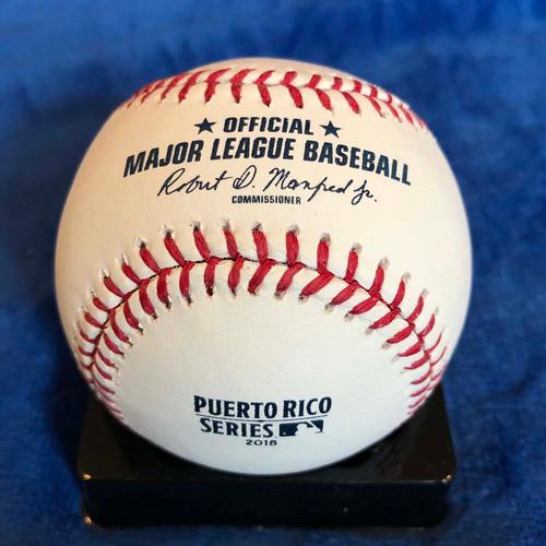 Photo of UMPS CARE AUCTION: Cal Ripken Signed 2018 Puerto Rico Series Baseball