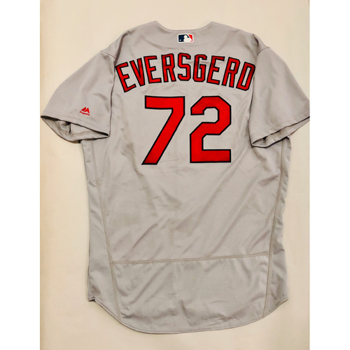 Photo of 2019 Mexico Series Game Used Jersey - Bryan Eversgerd Size 48 (St. Louis Cardinals)