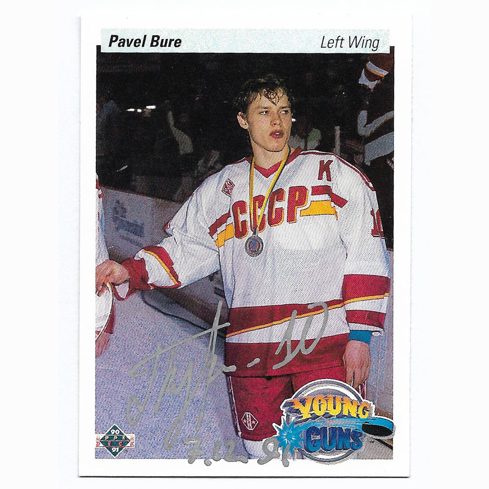 Pavel Bure Autographed 1990-91 Upper Deck Hockey Rookie Card