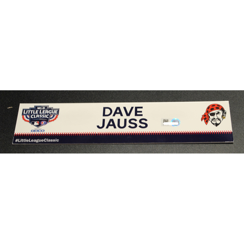 Photo of 2019 Little League Classic - Game Used Locker Tag - Dave Jauss,  Chicago Cubs at Pittsburgh Pirates - 8/18/2019